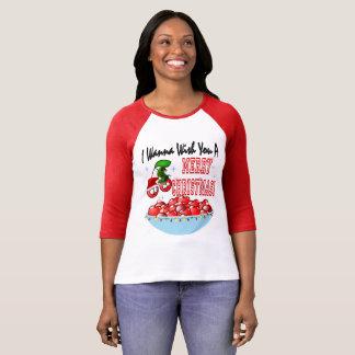 Camiseta Felices Navidad del cuenco de la cereza