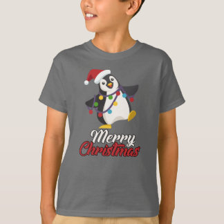 Camiseta Felices Navidad del pingüino