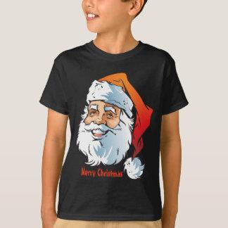 Camiseta Felices Navidad sonrientes de moda de Santa