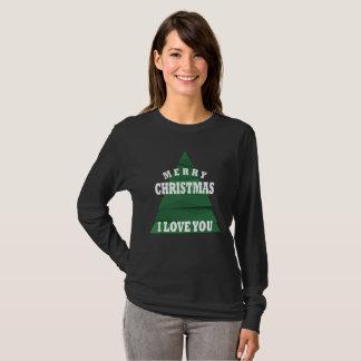 Camiseta Felices Navidad te amo
