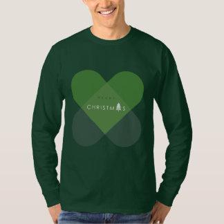 Camiseta Felices Navidad - verde