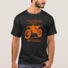 Camiseta Felicidad de la compra - naranja en el negro (KTM)