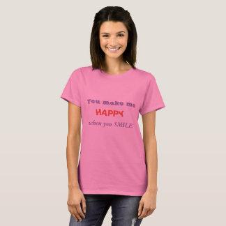 Camiseta feliz