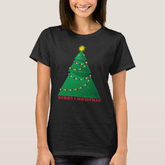 Camiseta Feliz árbol de navidad artístico