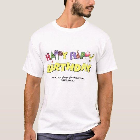 Camiseta feliz cumpleaños feliz