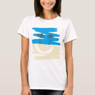 Camiseta feliz de la playa