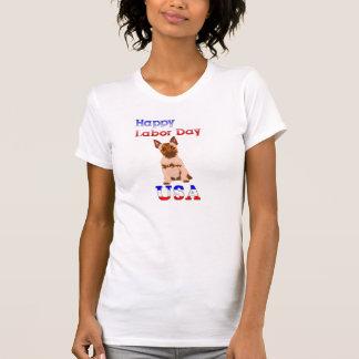 Camiseta feliz de Terrier de mojón del Día del