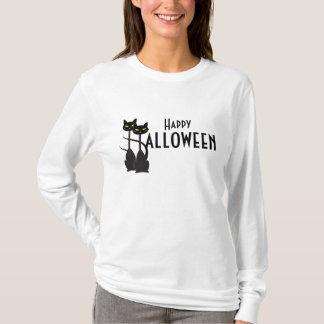 Camiseta Feliz Halloween de los gatos negros
