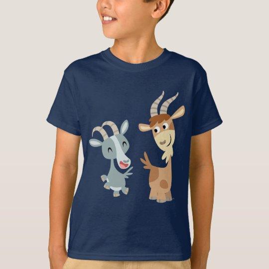 Camiseta feliz linda de dos del dibujo animado