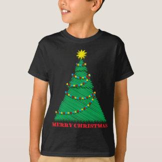 Camiseta Feliz movimiento incompleto del árbol de navidad