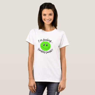 Camiseta feliz, smiley verde