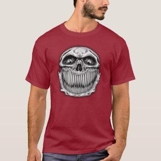 Camiseta feliz y triste lateral doble del cráneo