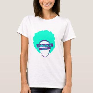 Camiseta femenina de la música ridícula (blanca)