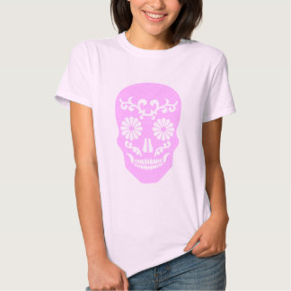 Camiseta femenina del cráneo del Grunge del chica