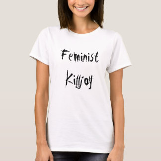 Camiseta feminista del Killjoy: Blanco