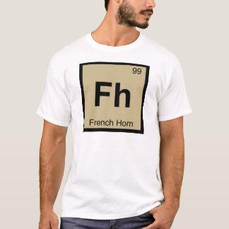 Camiseta Fh - tabla periódica de la química de la música de