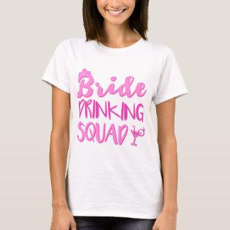 Camiseta Fiesta de consumición de Bachelorette del pelotón