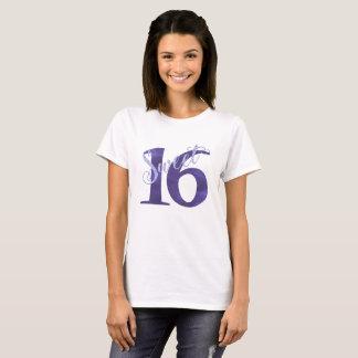 Camiseta Fiesta de cumpleaños de la acuarela de la púrpura