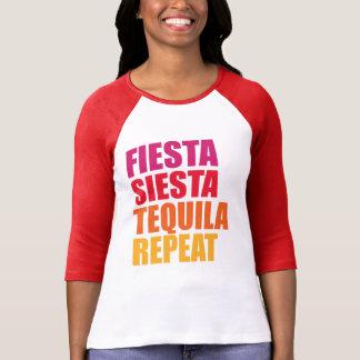 Camiseta Fiesta, siesta, vacaciones de Bachelorette del