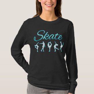 Camiseta Figura resplandor azul de los patinadores