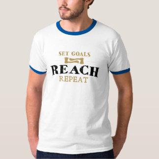 Camiseta Fije las metas, repetición del alcance
