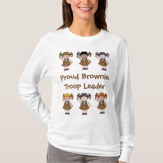 Camiseta Filas orgullosas del brownie del líder de la tropa