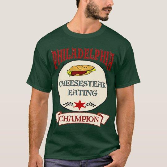 Camiseta Filete del queso de Philly que come al campeón