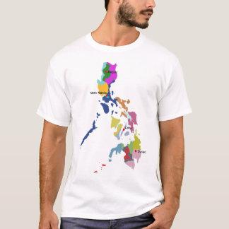 Camiseta filipina del mapa