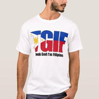 Camiseta Filipino de TGIF con la bandera filipina
