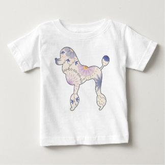 Camiseta fina del jersey del bebé con el caniche
