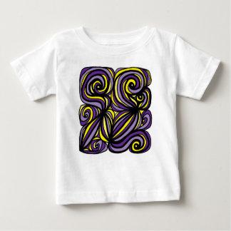 Camiseta fina del jersey del bebé de la