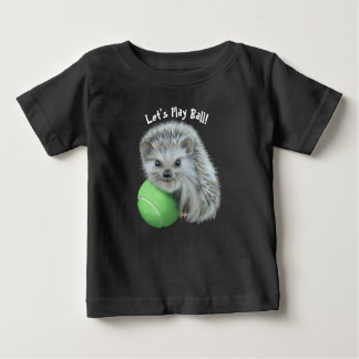 Camiseta fina del jersey del bebé - erizo juguetón