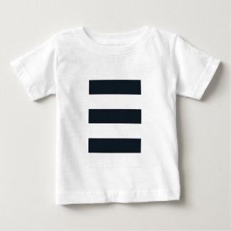 Camiseta fina del jersey del bebé: Negro y blanco
