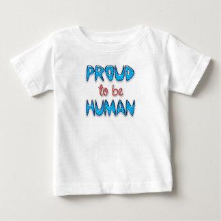 Camiseta fina humana orgullosa del bebé del jersey