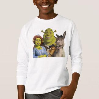 Camiseta Fiona, Shrek, Puss en botas, y burro