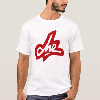Camiseta Firma de Che Guevara - rojo en blanco