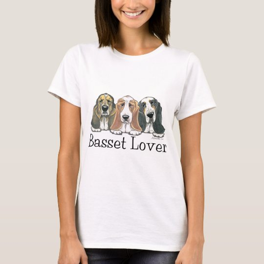 Camiseta Firma del amante de Basset Hound