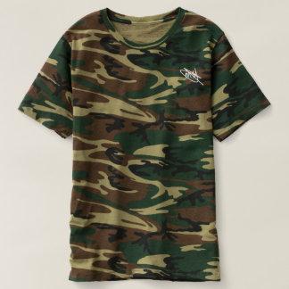 Camiseta Firma del blanco de Camo de los hombres