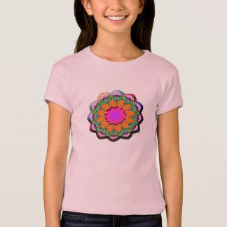 Camiseta Flor abstracta colorida