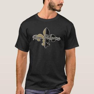 Camiseta Flor de lis bk/gd de New Orleans