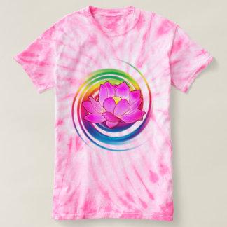 Camiseta Flor de Lotus en arco iris