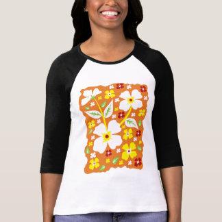 Camiseta Flor en el naranja