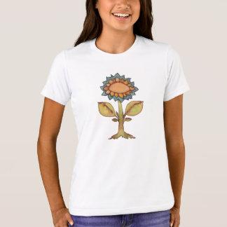Camiseta Flor - pintura de la acuarela