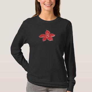 Camiseta Flor roja