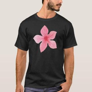 Camiseta flor rosada de la acuarela