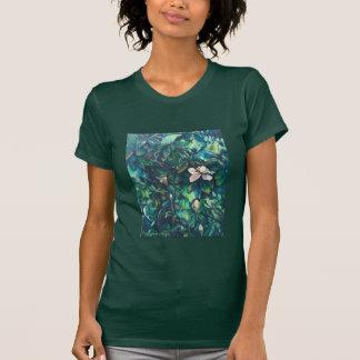 Camiseta floral de la magnolia tropical