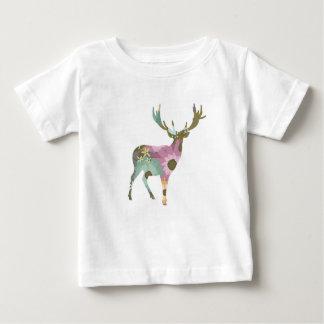 Camiseta floral del bebé de los ciervos