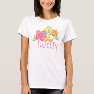 Camiseta Flores tropicales de Tweety