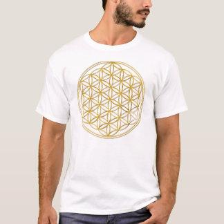 Camiseta Flower Of Life | de oro big