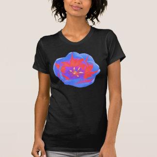 Camiseta fluorescente de las señoras del tulipán